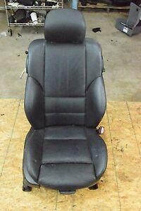 Genuine E46 Bmw Front Right Electric Sport Seat Leather Black Oem 325ci 330ci M3