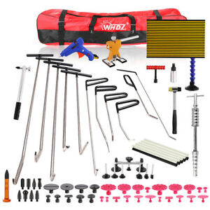 66x Set Auto Dent Repair Paintless Paintless Ding Dent Hail Removal Tools Kit