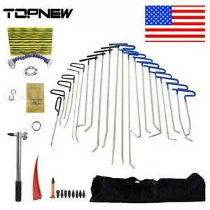 Auto Paintless Dent Puller Lifter Hail Hammer Repair Removal Rods Tools Kit Us