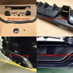 Carbon Fibre Upgrade C63 Body Kit For Mercedes Benz W205 2013 2016 Brabus Style