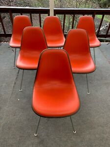 Vintage Eames H Base Herman Miller Dsx Shell Chairs Set Of 6