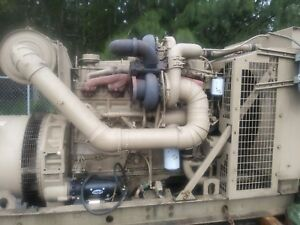 350 Kw Cummins Diesel Generator Set 12 Lead Re connectabl 1 3 Phase Low Hours