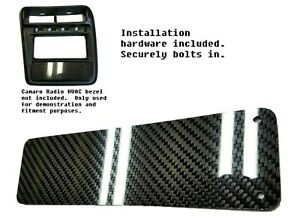 Carbon Fiber Climate Control Delete Panel For 1997 2002 Chevy Camaro Dash Bezel