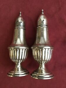 Mueck Cary M Sterling Silver Salt Pepper Shakers 158 Great Shape 925