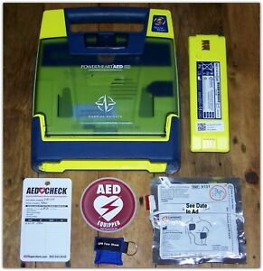 Cardiac Science Powerheart Defibrillator Aed 75 Battery 2020 Pads Great Cond
