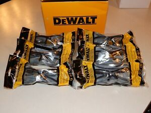 New Lot Of 6 Dewalt Dpg51 Radius Safety Glasses With Clear Lens