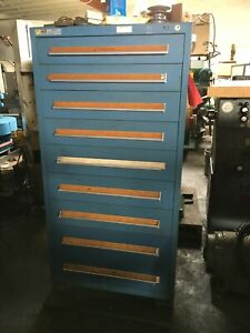 Stanley Vidmar 9 Drawer Cabinet Loaded