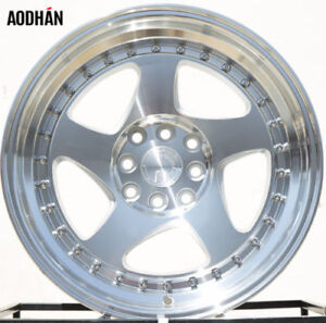 Aodhan Ah01 16x8 4x100 114 3 15 Silver Wheels Fits Accord Integra Civic Miata