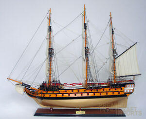 Hms Agamemnon Display Wooden Ship Model 37