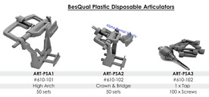 Besqual Dental Lab Plastic Articulators High Arch Crown bridge Tap screw