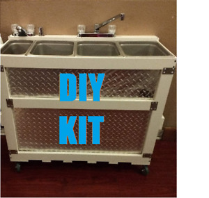 Diy Large Frame Plumbing Kit Portable 3 4 Concession Sink Hand Wash