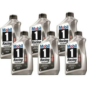 Mobil1 104145 Racing Engine Oil 0w 50 6 Quarts
