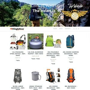 Custom Camping Gear Niche Dropshipping Turnkey Website Make Money Reselling