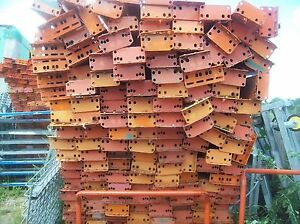 Lot Of 48 Industrial Warehouse Shelving Pallet Rack Load Beam Used Pu Ny