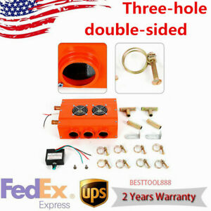 6ports Car Truck Heater Underdash Universal Double Side 3hole Compact Air Heater