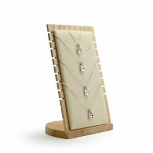 Oirlv Solid Wood Jewelry Display Stand Necklace Showcase Holder Pendantlong C