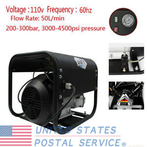 110v Air Compressor Pump High Pressure Pcp 30mpa 4500psi For Paintball Game