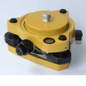 Yellow Gps Carrier Fixed Adapter With 5 8 Rotate Tribrach With Optical Plummet