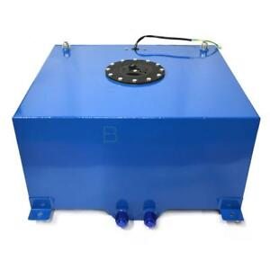 15 Gal Polished Aluminum Fuel Cell Tank With Fuel Level Sender Sending Unit