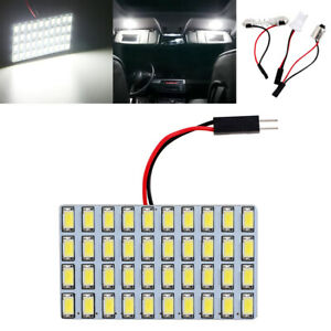 100x 40smd 5730 Led Light Panel Car Interior Bulb T10 Ba9s Festoon Dome Adapter