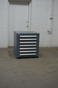 Used Vidmar 7 Drawer Cabinet 33 Tall Industrial Storage 1655