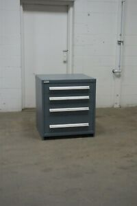 Used Vidmar 4 Drawer Cabinet 33 Tall Industrial Storage 1653