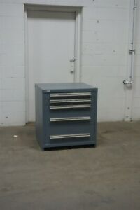 Used Vidmar 5 Drawer Cabinet 33 High Industrial Storage 1652