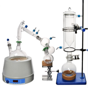 5l Lab Equipment Short Path Distillation Kit Essential Oil Steam Magnetic Heater