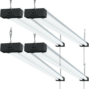 Sunco 4 Pack Industrial Led Shop Light Frosted 40w 6000k 4000lm Plug in Garage