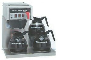 Coffee Brewer bloomfield Model 8572 3 Warmer Automatic With Faucet