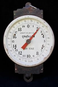 Vintage Chatillon Milk Scale Farmers Milk Scale Vintage Country Store Decor