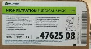 Halyard 47625 High Filtration Surgical Mask With Ties Box Of 35 X 6 Case 210