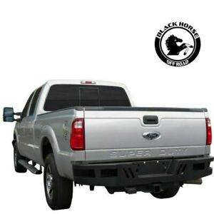 Black Horse Fit 1999 2016 Ford F250 F350 Black Steel Heavy Duty Rear Bumper
