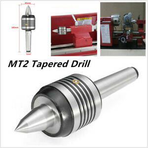 Mt2 0 0002 Steel Long Nose Live Center Morse Taper Drill Bearing Lathe Turning