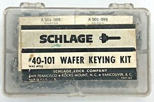 Schlage A w Wafer Lock Keying Pinning Kit 40 101 Locksmith Door Servicing