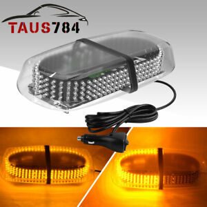 Yitamotor Emergency Vehicle Roof Top 240 Led Strobe Light Magnetic Base Amber