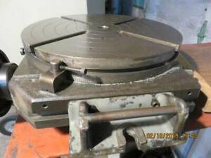 Bridgeport 15 Manual Rotary Table 360 Degree Graduations