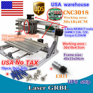 Us 3 Axis Diy 3018 Mini Engraver Milling Laser Machine Cnc Router