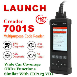 Launch Cr7001s Obd2 Code Reader Scanner Car Diagnostic Tool Abs Epb Oil Reset Us