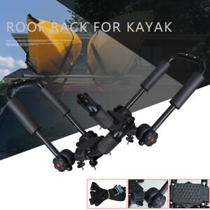 2 X Roof J Rackuniversal Fit Kayak Boat Canoe Car Suv Top Mount Carrier Pack 2