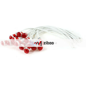 20pcs Hole 2 Wire Cable Red Indicator Pilot Light Lamp 10mm Dc 12v