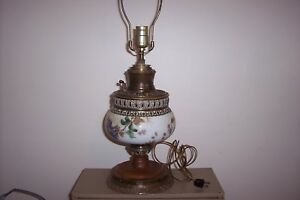 Bradley And Hubbard Oil Lamp Converted To Electric Dated Signed 9 31 1888