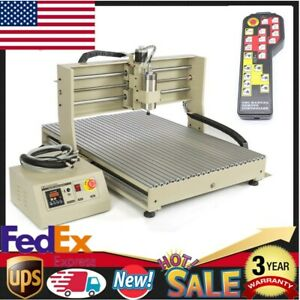 Usb Cnc 6090 1500w 4axis Router Engraver Milling Engraving Machine controller Us