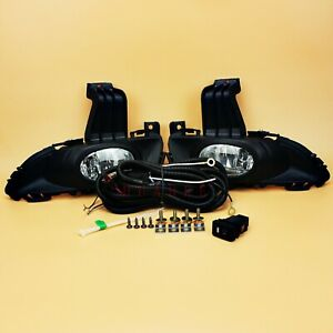 For 2004 2005 2006 Mazda 3 4dr Bumper Fog Lights Complete Kit W bulb Switch Wire
