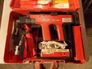 Hilti Dx451 Piston Drive Powder Actuated Fastening Tool Compete Kit