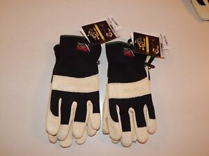 New Lot Of 10 Black Stallion Flex Hand Cowhide Leather Work Gloves Sizes M Or L