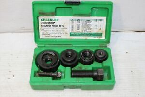 Greenlee 735 735bb Knockout Punch Set Made In Usa