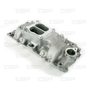 Chevy Big Block Carbureted Satin Aluminum Dual Plane Intake Manifold