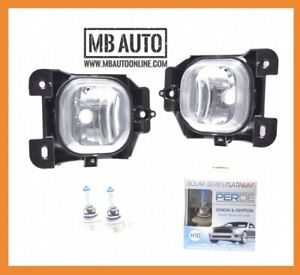 2004 2005 Ford Ranger Clear Fog Lights Lamps Bumper Pair With Perde H10 Bulbs