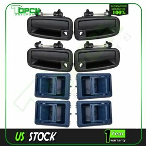 8x Inside Outside Front Rear Left Right Door Handles For 88 92 Toyota Corolla